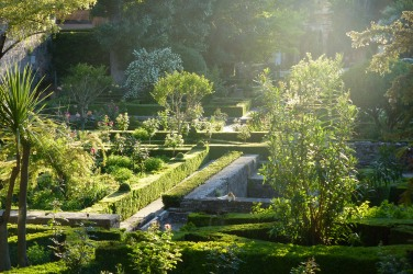 Beautiful gardens of the Parador de Granada